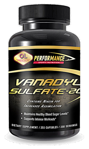 Olympian Labs Vndyl Sulfate Niacin Perspective: front