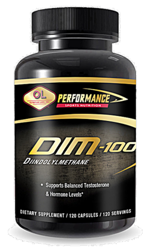 Olympian Labs DIM Testosterone & Hormone Support Capsules Perspective: front