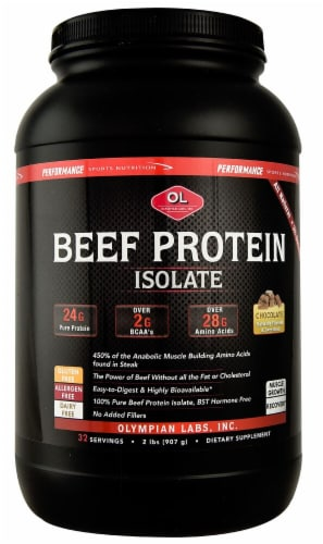 Olympian Labs  Beef Protein Isolate   Chocolate Perspective: front