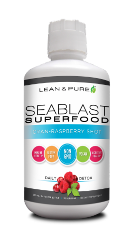 Lean & Pure Seablast Superfood Cran-Raspberry Shot Perspective: front