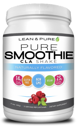 Lean & Pure Naturally Flavored Pure Smoothie CLA Shake Perspective: front