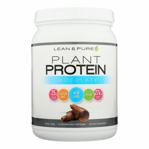 Lean & Pure Chocolate Plant Protein Dietary Supplement Perspective: front