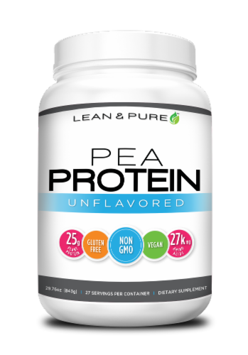 Lean & Pure Unflavored Pea Protein Dietary Supplement Perspective: front