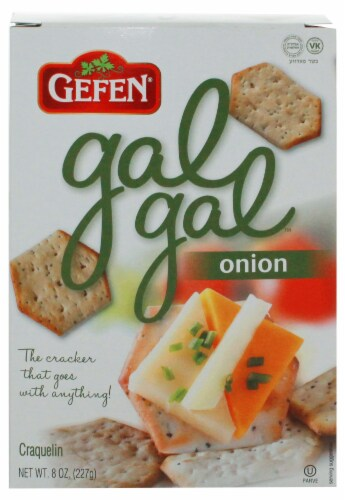 Gefen Onion Gal Gal Crackers Perspective: front
