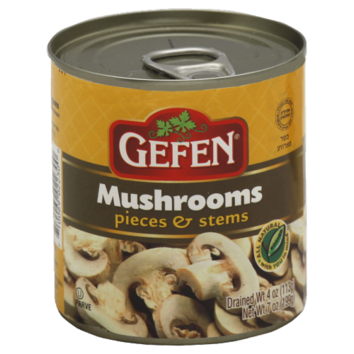Gefen Pieces & Stems Mushrooms Perspective: front