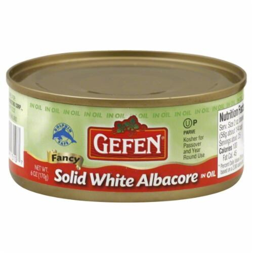 Gefen Solid White Tuna in Oil Perspective: front