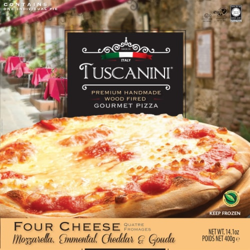 Tuscanini Wood Fired Four Cheese Gourmet Pizza Perspective: front