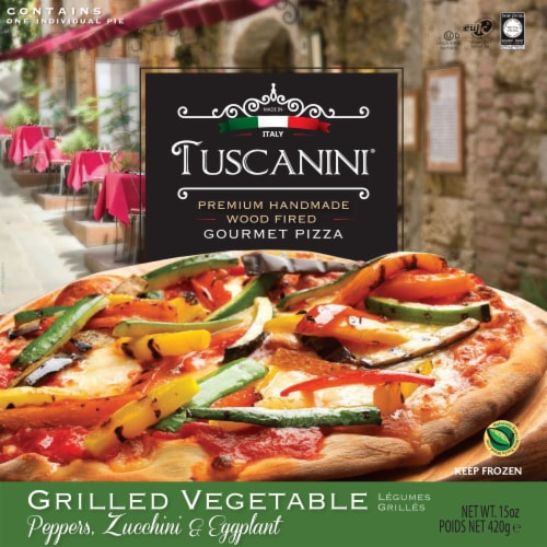 Tuscanini Grilled Vegetable Pizza Perspective: front