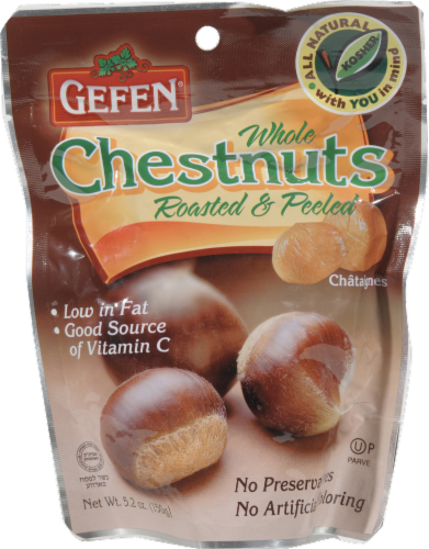 Gefen Whole Roasted & Peeled Chestnuts Perspective: front