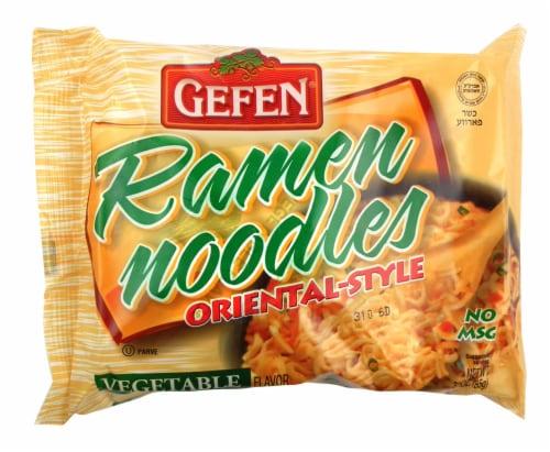 Gefen Vegetable Flavored Oriental-Style Ramen Noodles Perspective: front