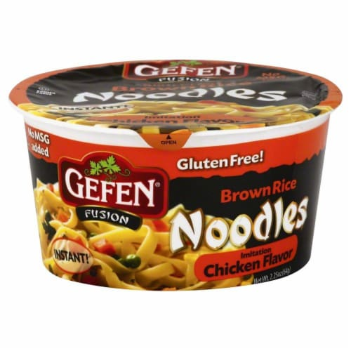 Gefen Fusion Imitation Chicken Flavored Brown Rice Noodles Perspective: front