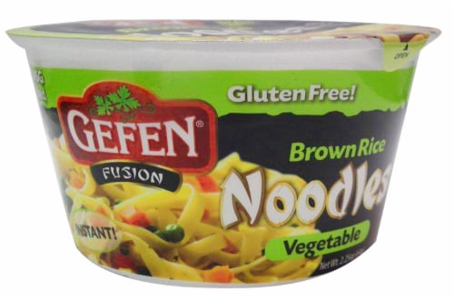 Gefen Fusion Vegetable Brown Rice Noodles Perspective: front