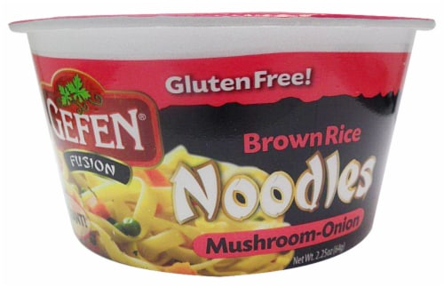Gefen Fusion Mushroom-Onion Brown Rice Noodles Perspective: front
