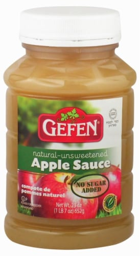 Gefen Natural Unsweetened Apple Sauce Perspective: front