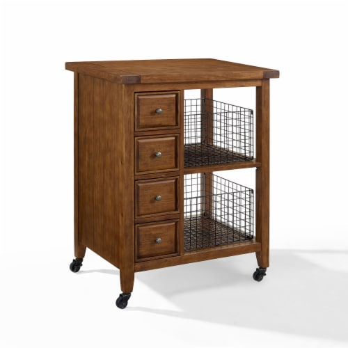 Sienna Kitchen Cart Moroccan Pine Perspective: front