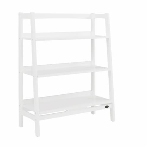 Crosley Landon Collection Tall Bookcase - White Perspective: front