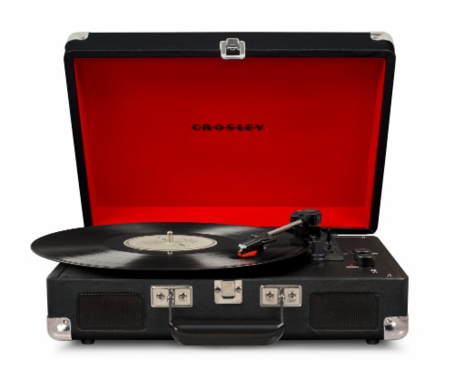 Crosley Cruiser Deluxe Turntable with Bluetooth - Black Perspective: front