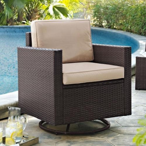 Palm Harbor Wicker Patio Swivel Rocker, Patio Furniture Swivel Rocker Chair