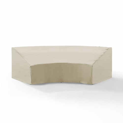 Outdoor Catalina Round Sectional Furniture Cover Perspective: front