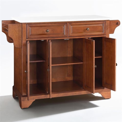Lafayette Granite Top Full Size Kitchen Island/Cart Perspective: front