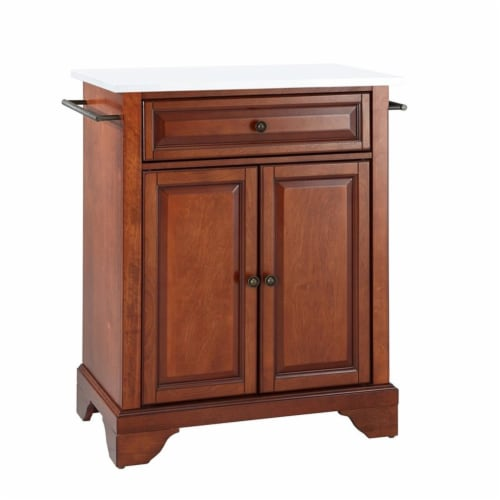 Lafayette Granite Top Portable Kitchen Island/Cart Perspective: front