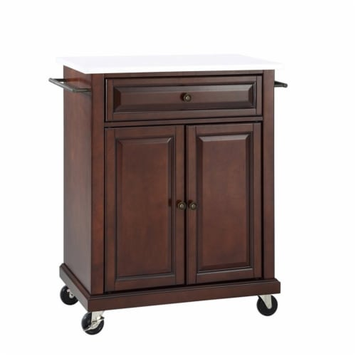 Portable Granite Top Kitchen Cart Perspective: front