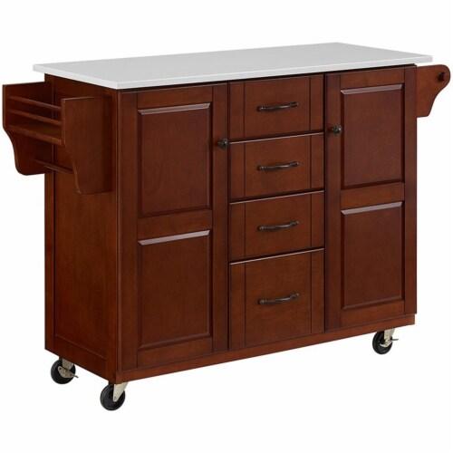 Eleanor Granite Top Kitchen Cart Perspective: front