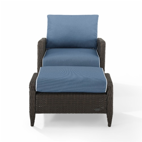 Kiawah 2Pc Outdoor Wicker Chair Set Perspective: front