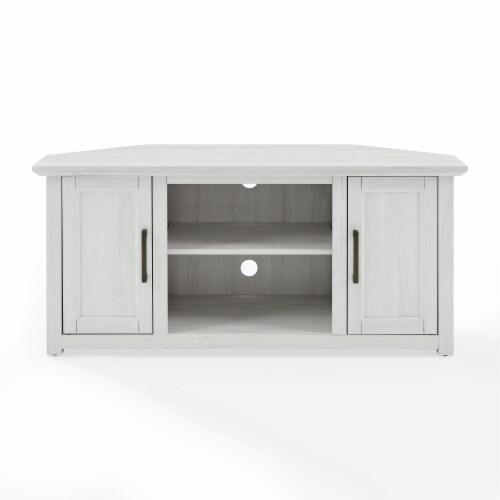 Crosley Camden Corner TV Set - White Finish Perspective: front