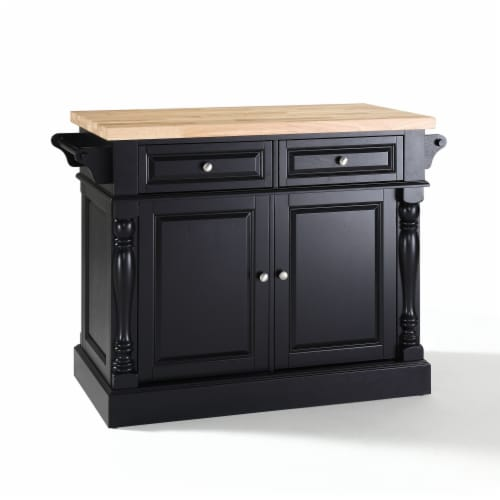 Oxford Kitchen Island W/X-Back Stools Perspective: front