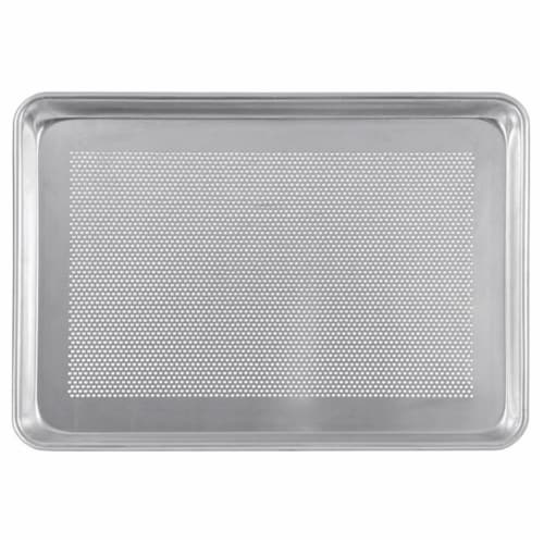 Crestware 18 x 13 in. Half Sheet Pan - Perforated Perspective: front