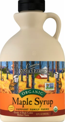 Coombs Family Farms Organic Grade A Maple Syrup Perspective: front