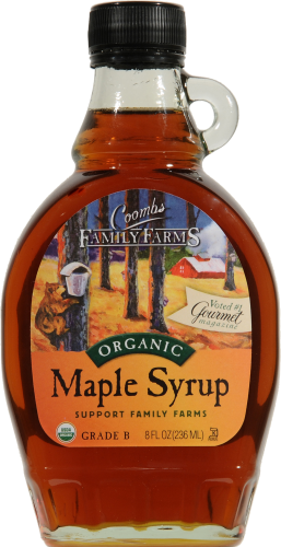 Coombs Family Farms Grade B Organic Maple Syrup Perspective: front