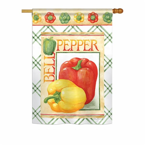 Breeze Decor BD-VG-H-117040-IP-BO-DS02-US Bell Pepper Food - Everyday Vegetable Impressions D Perspective: front