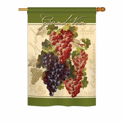 Breeze Decor BD-FT-H-117041-IP-BO-DS02-US Red & Purple Grapes Food - Everyday Fruits Impressi Perspective: front