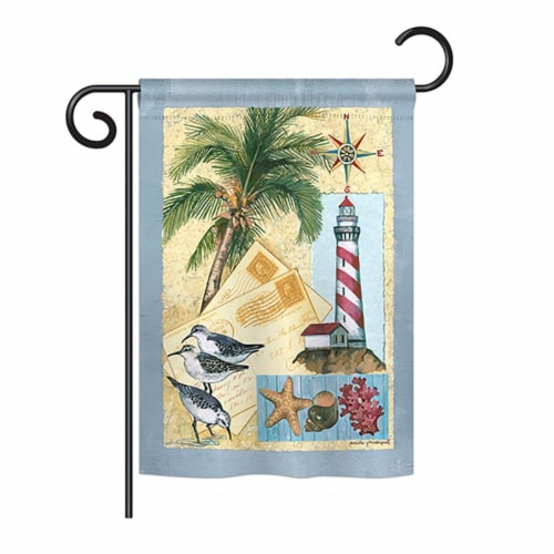 Breeze Decor BD-NA-G-107052-IP-BO-DS02-US Lighthouse Letters Coastal - Everyday Nautical Impr Perspective: front