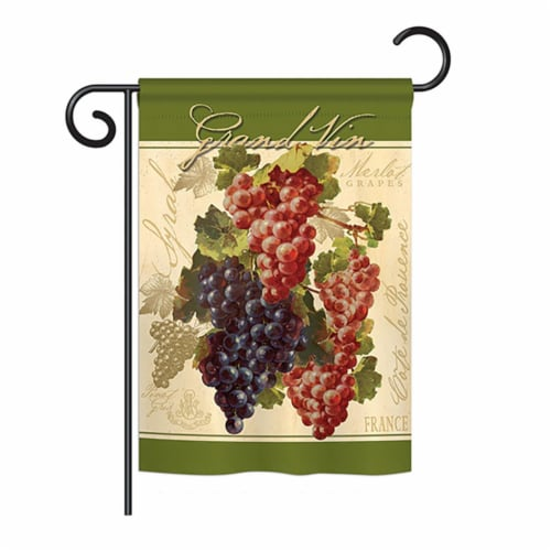Breeze Decor BD-FT-G-117041-IP-BO-DS02-US Red & Purple Grapes Food - Everyday Fruits Impressi Perspective: front