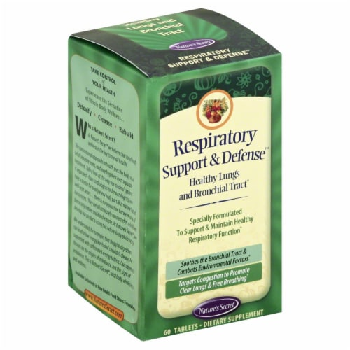 Nature's Secret Respiratory Healthy Lungs Support & Defense Dietary Supplement Perspective: front