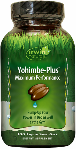 Irwin Naturals Advanced Yohimbe-Plus Dietary Supplement Liquid Soft Gels Perspective: front