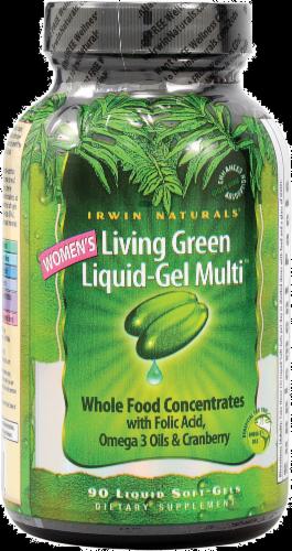 Irwin Naturals Women's Living Green Vitamins Perspective: front