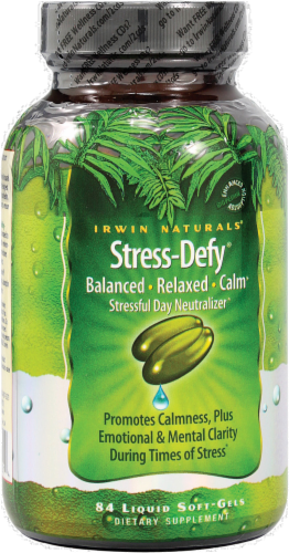 Irwin Naturals Stress-Defy Supplement Perspective: front