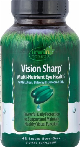 Irwin Naturals Vision Sharp Eye Health Liquid Softgels Perspective: front