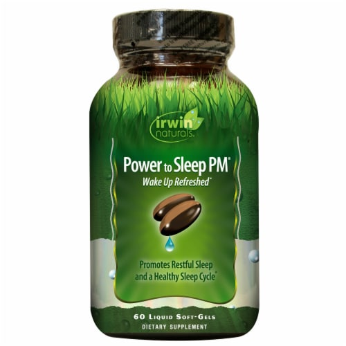 Irwin Naturals Power to Sleep PM Dietary Supplement Liquid Soft Gels Perspective: front