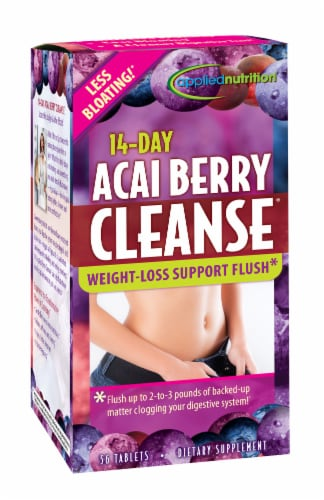 Applied Nutrition 14-Day Acai Berry Cleanse Weight-Loss Dietary Supplement Tablets Perspective: front