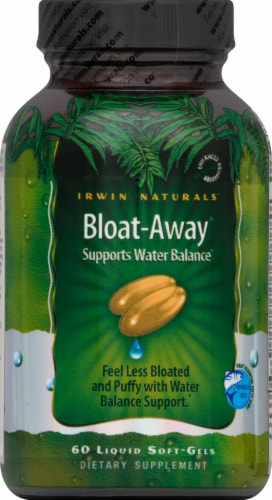 Irwin Naturals Bloat-Away Dietary Supplement Perspective: front