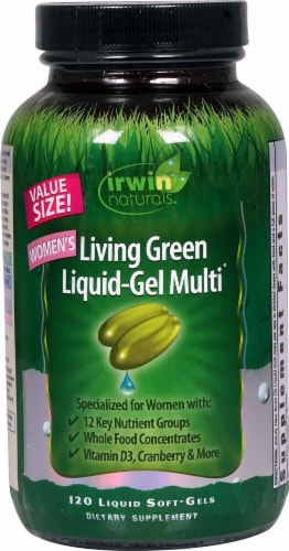 Irwin Naturals  Living Green Liquid-Gel Multi™ For Women Perspective: front