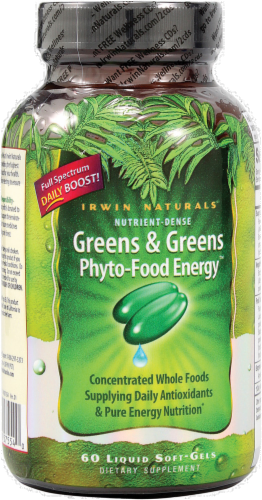 Irwin Naturals Greens & Greens Energy Supplement Perspective: front