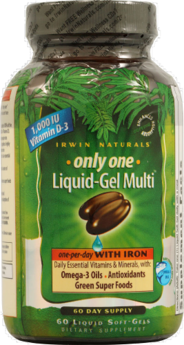 Irwin Naturals Only One Liquid-Gel Multi Perspective: front