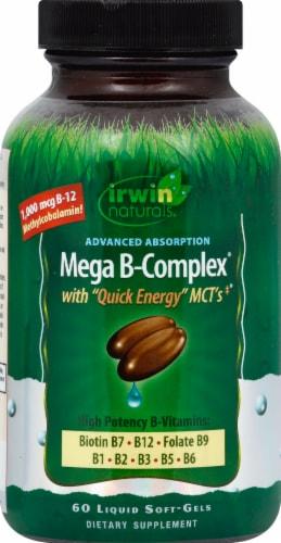 Irwin Naturals Mega B-Complex Perspective: front