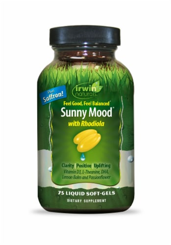 Irwin Naturals Sunny Mood Liquid Softgels Perspective: front